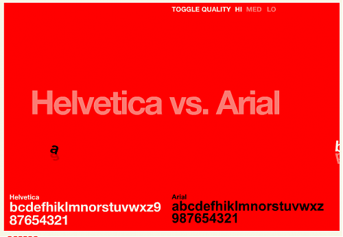 Helvtica vs. Arial