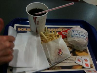Mitternachtssnack bei Burger King