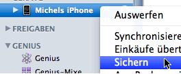 iPhone-Sicherung