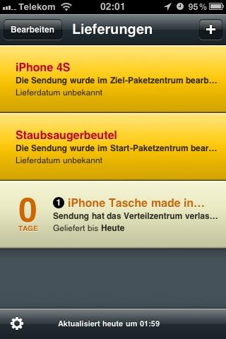 iPhone Lieferstatus
