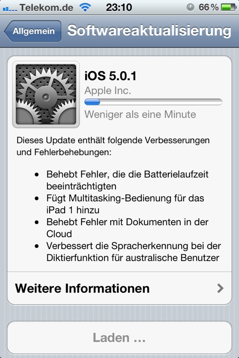 iOS 5.0.1 Software-Update