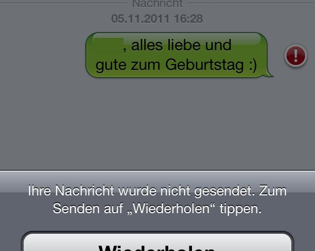 Screenshot iPhone Nachrichten-App