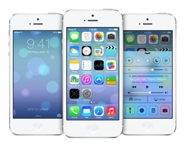 iOS7 auf einem iPhone 5