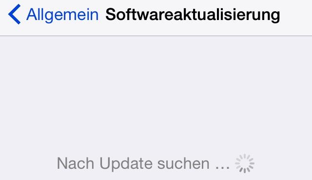 Softwareaktualisierung iOS 8